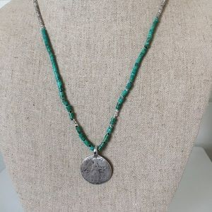 Rare Tulum Turquoise Coin Turquoise Necklace